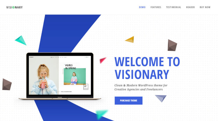 Visionary - Creative Multi-purpose WordPress Theme