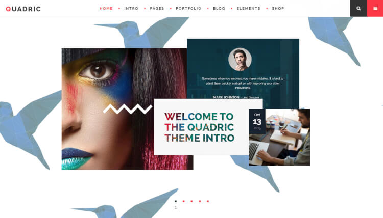 Quadric - Modern Creative WordPress Theme