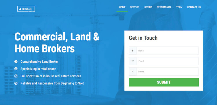 Landing Page Wordpress Template. 17 best free wordpress landing ...