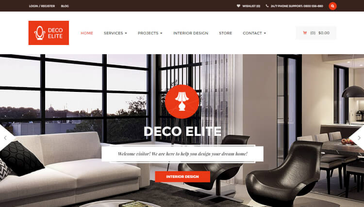 27 best interior design wordpress themes 2018 theme junkie for Interior design wordpress theme