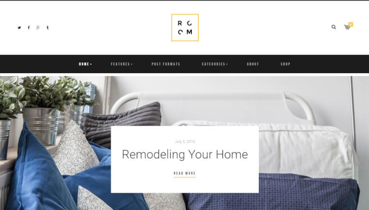 ROOM - Interior Design Blog and Furniture Shop Theme