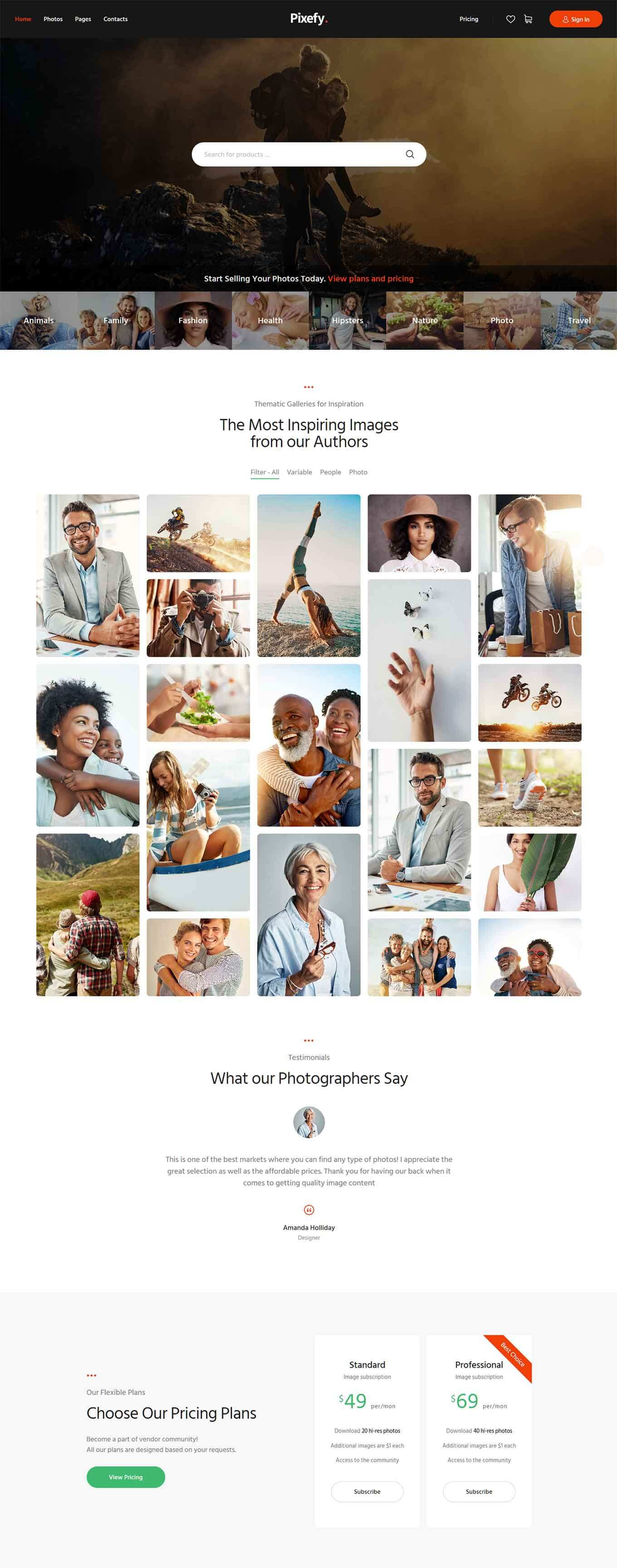 40+ Best WordPress Themes for Photographers 40 Free & Premium ...