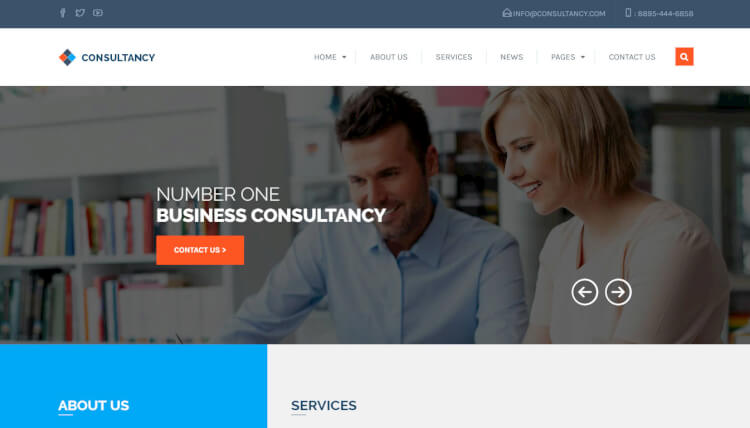Consultancy - Consulting and Business WordPress Theme