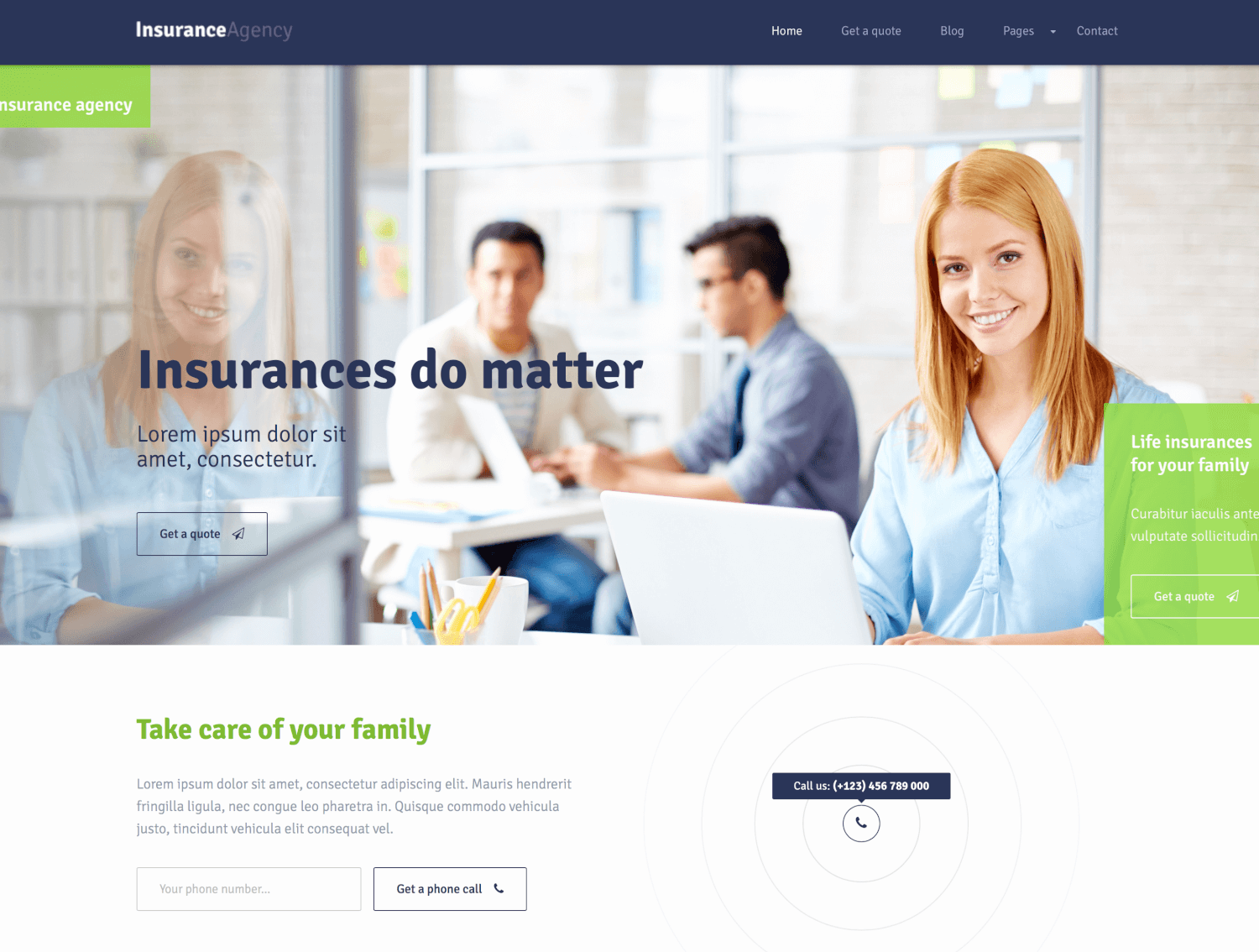Insurance - WordPress Theme for an Agency
