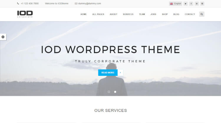 IOD - Consulting WordPress Theme