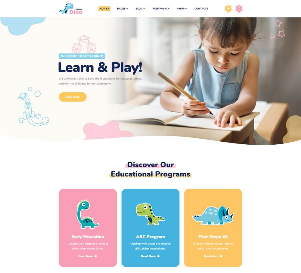 35 Best Wordpress Themes For Kids And Children 2020 Free Premium Theme Junkie
