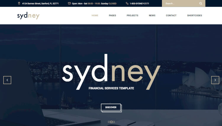 Sydney - Financial Consulting WordPress Theme