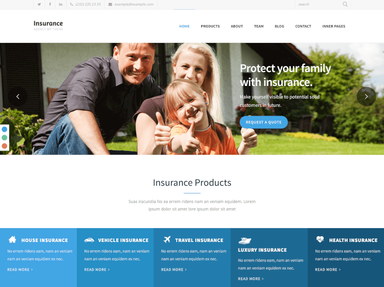 insurance agency wordpress template  15  Best Insurance WordPress Themes 2018 - Theme Junkie