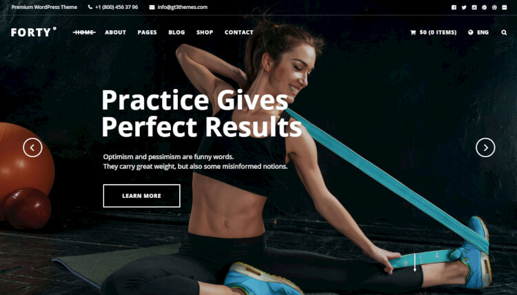 Forty - Multi-purpose Gym WordPress Theme
