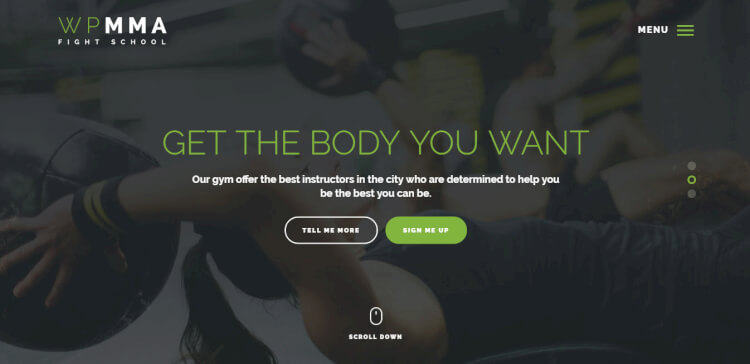 WP MMA - Gym and Fitness WordPress Theme