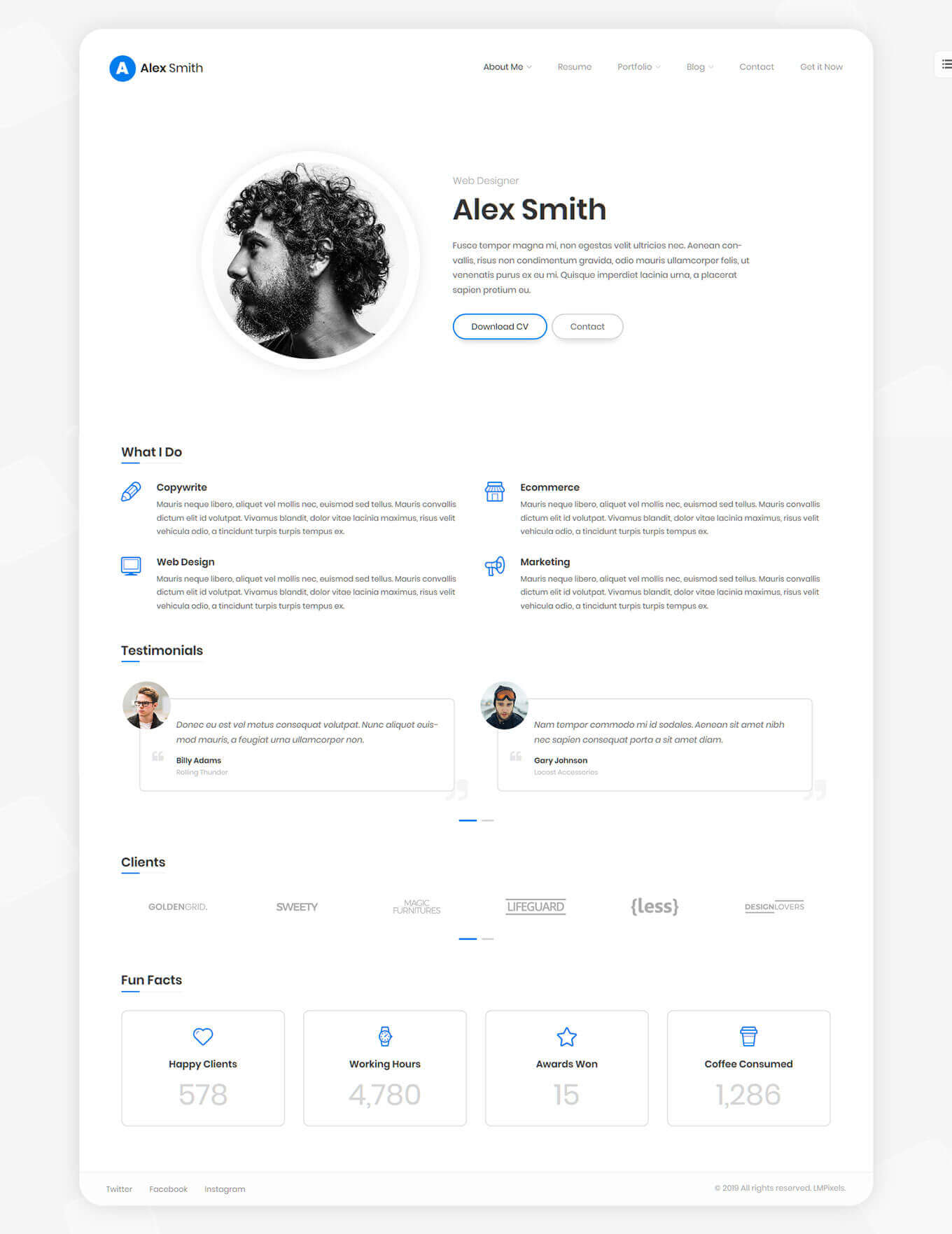 45 Best Cv And Resume Wordpress Themes 2021 Free Premium Theme Junkie