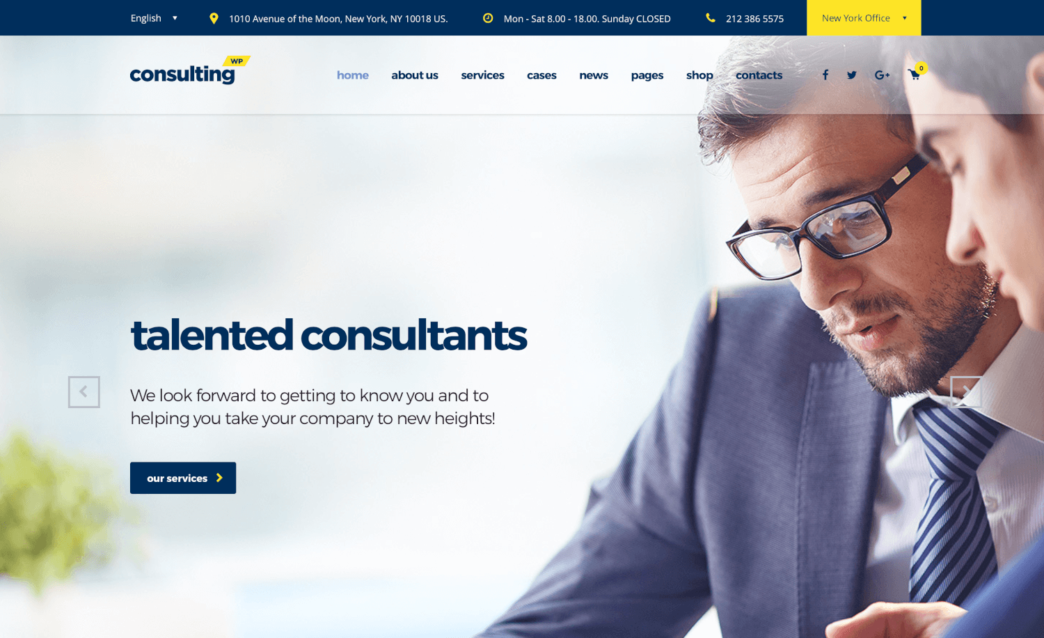Consulting - Business & Finance WordPress Theme