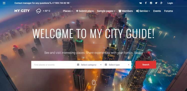 MyCity - Geolocation Classifieds and Directory WordPress Theme