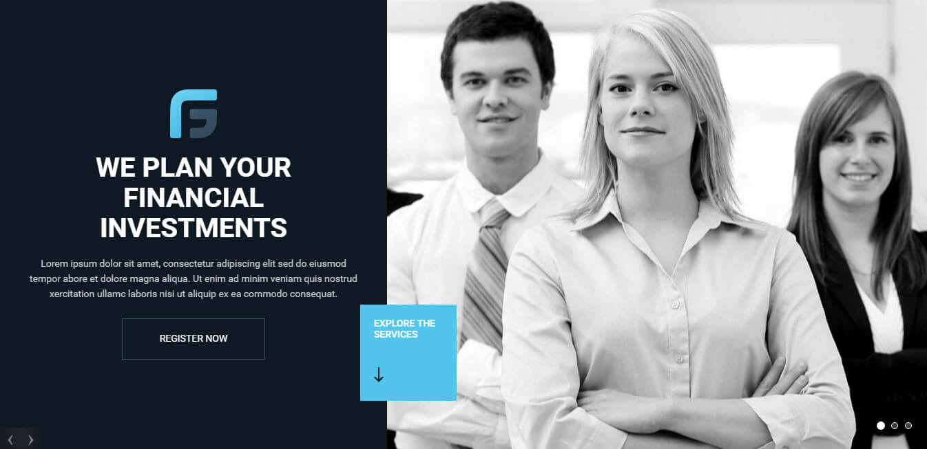 Finance Group - Corporate Insurance and Finance WordPress Theme