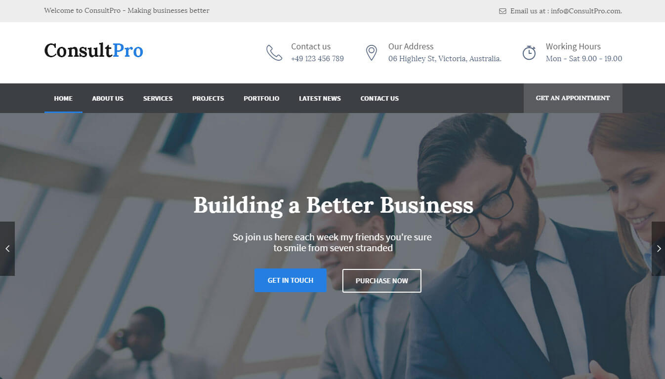 ConsultPro - Insurance Consultancy WordPress Theme