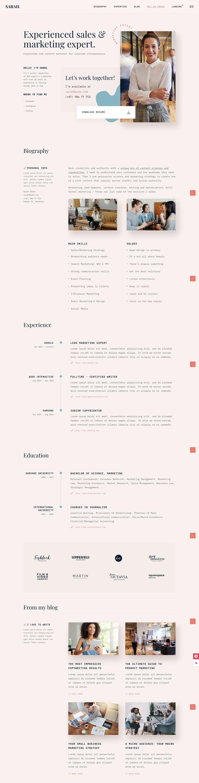 Resume WordPress Theme from www.theme-junkie.com