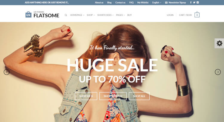 Flatsome - WooCommerce SEO Optimised WordPress Theme