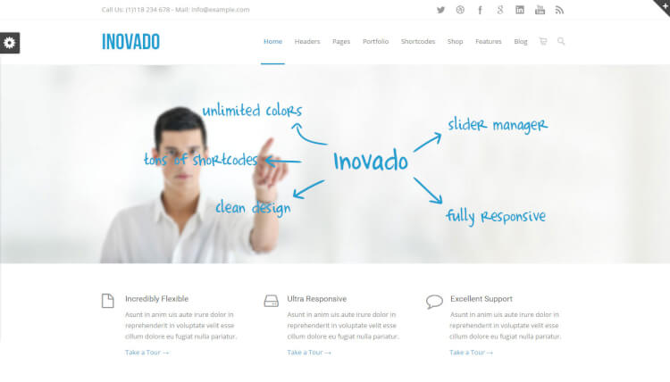 Inovado - SEO Optimised Retina WordPress Theme