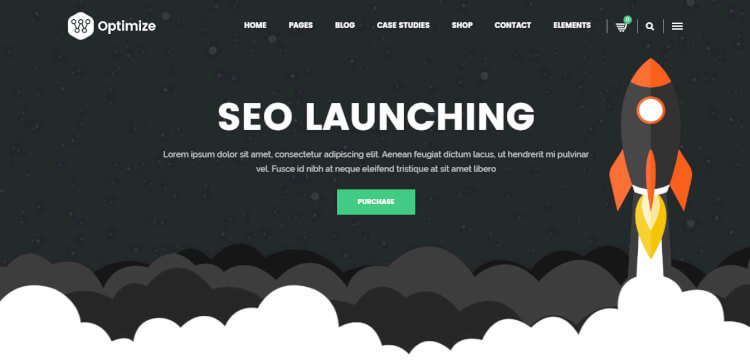 Optimize - SEO Optimised Digital Marketing WordPress Theme