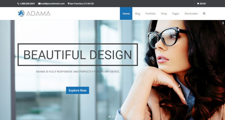 Adama - Responsive SEO Optimised WordPress Theme