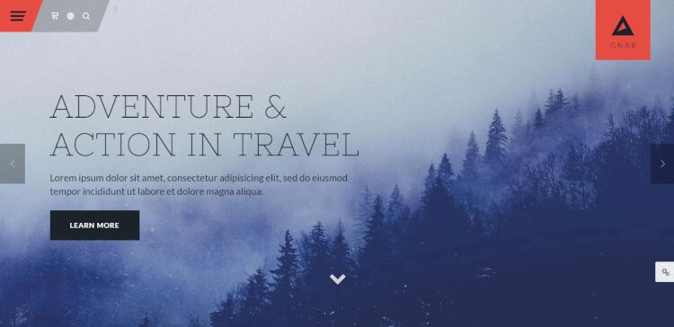 Gnar - Action, Adventure and Travel SEO Optimised WordPress Theme