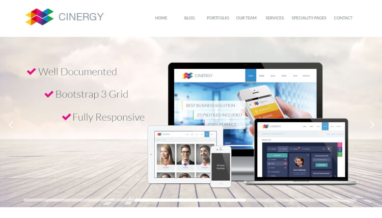 Cinergy - Modern Business SEO Optimised WordPress Theme