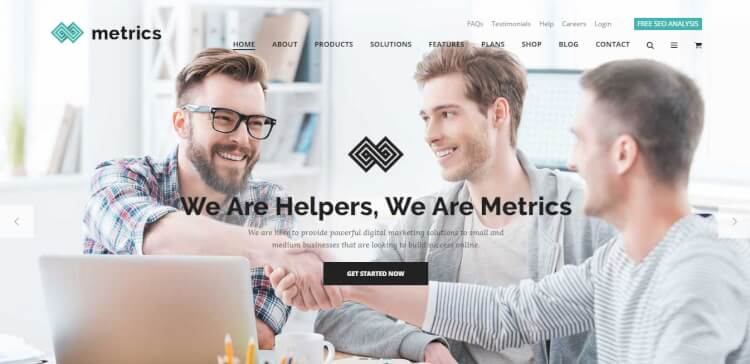 Metrics - SEO Optimised Digital Marketing WordPress Theme