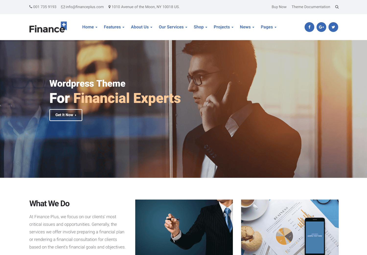 FinancePlus - Finance & Business Theme