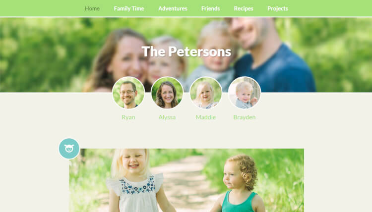 Family Blog - Kids and Children Blogging WordPress Theme