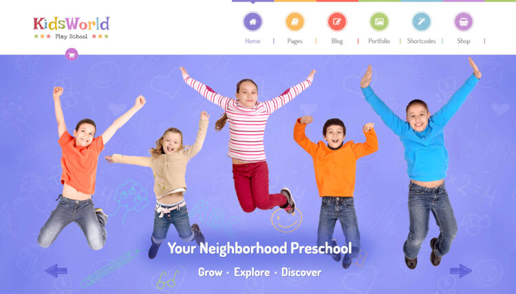 KidsWorld - Nursery, Preschool and Child Care WordPress Theme