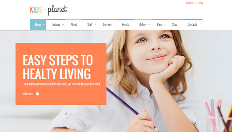 Kids Planet - Multipurpose Kids and Children WordPress Theme