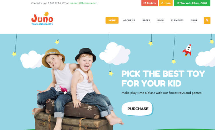 Juno - Kids and Children-Focused Ecommerce WordPress Theme