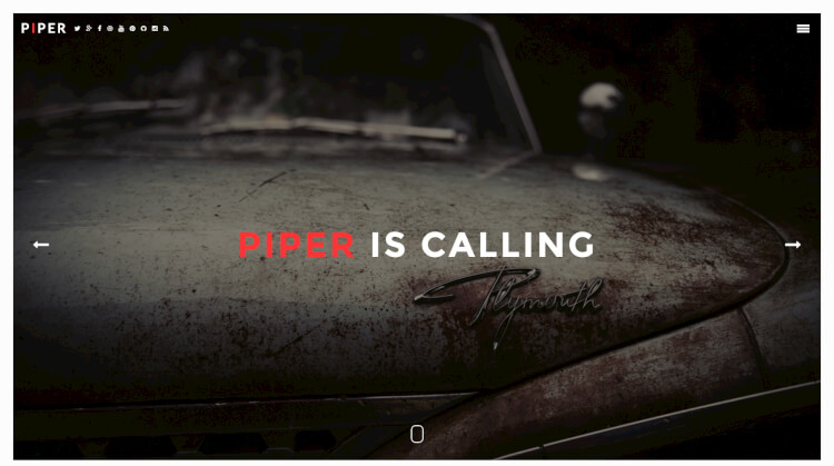 Piper - Creative Fullscreen WordPress Theme