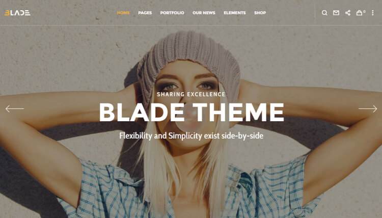 Blade - Multifunctional Fullscreen WordPress Theme