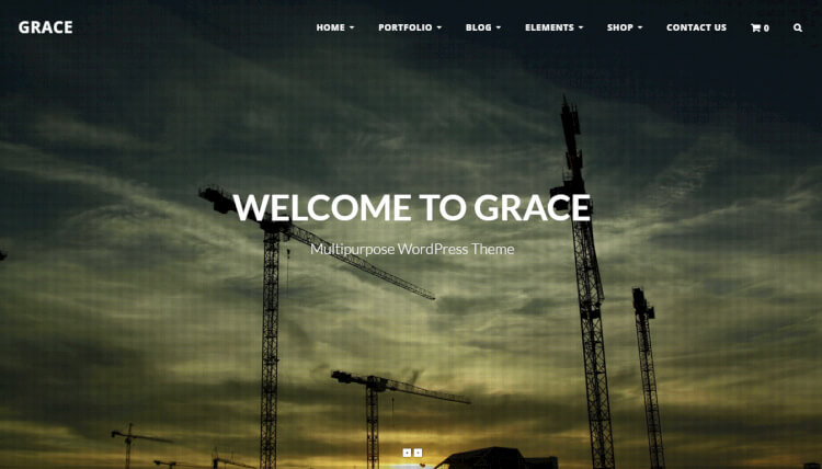 Grace - Flexible Fullscreen WordPress Theme
