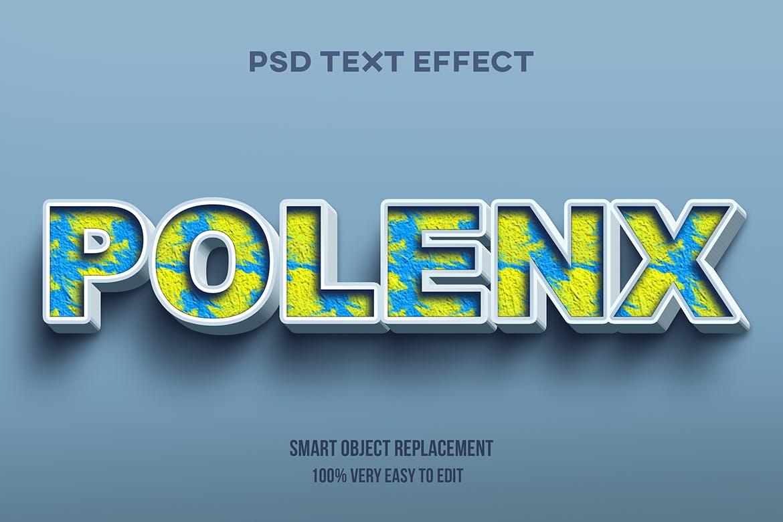 Photoshop font 3d