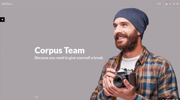 Corpus - Fullscreen Corporate WordPress Theme