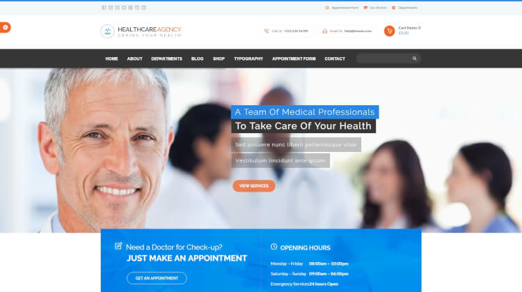 Healthcare Agency - Health and Medical WordPress Theme