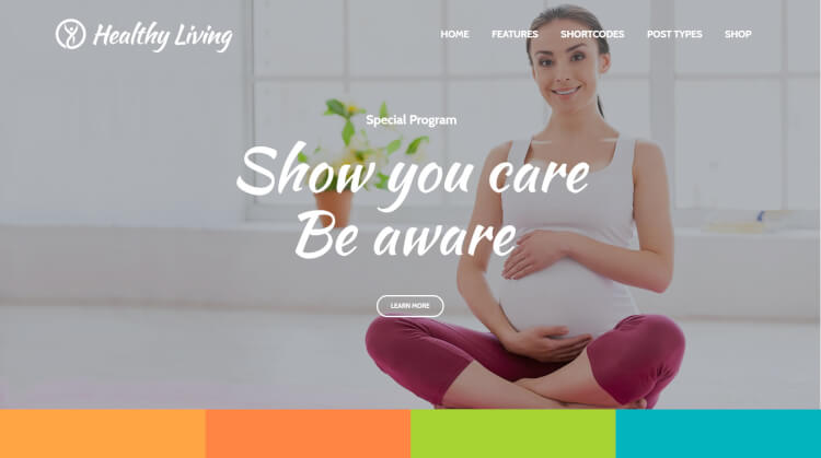 Healthy Living - Nutritionist WordPress Theme