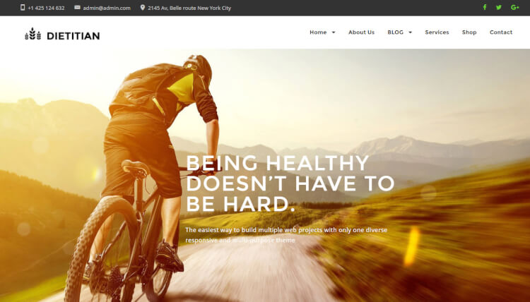 Dietitian - Nutritional Health Professionals WordPress Theme