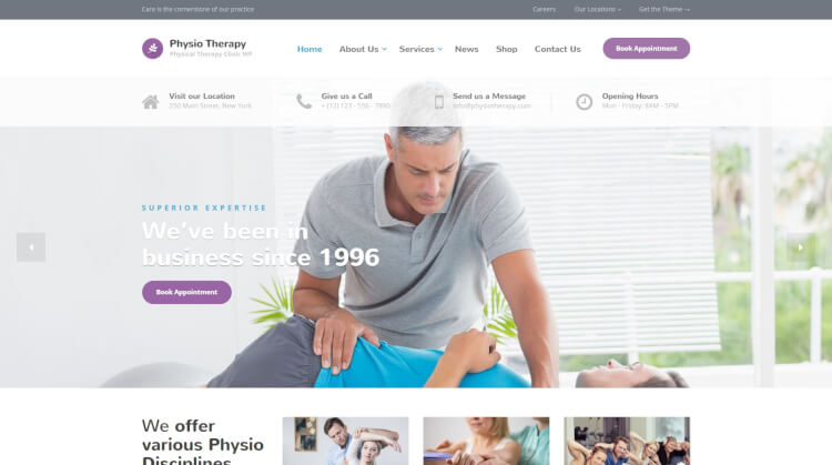 Physio - Physical Therapy WordPress Theme