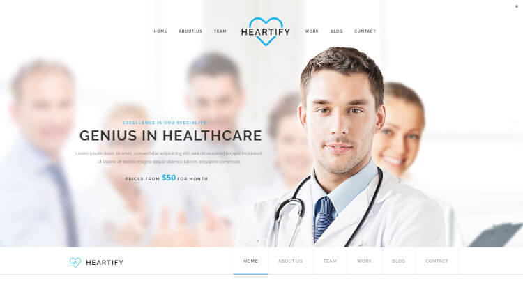 Heartify - Medical Clinic Health WordPress Theme