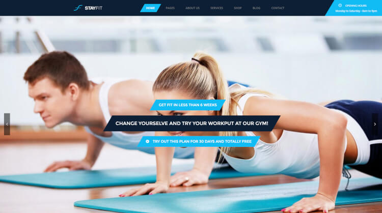 Stayfit - Sports and Health WordPress Theme