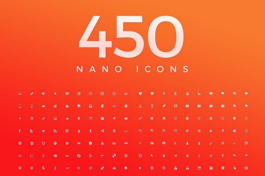 450 Nano Mininmal Icons for iPhone