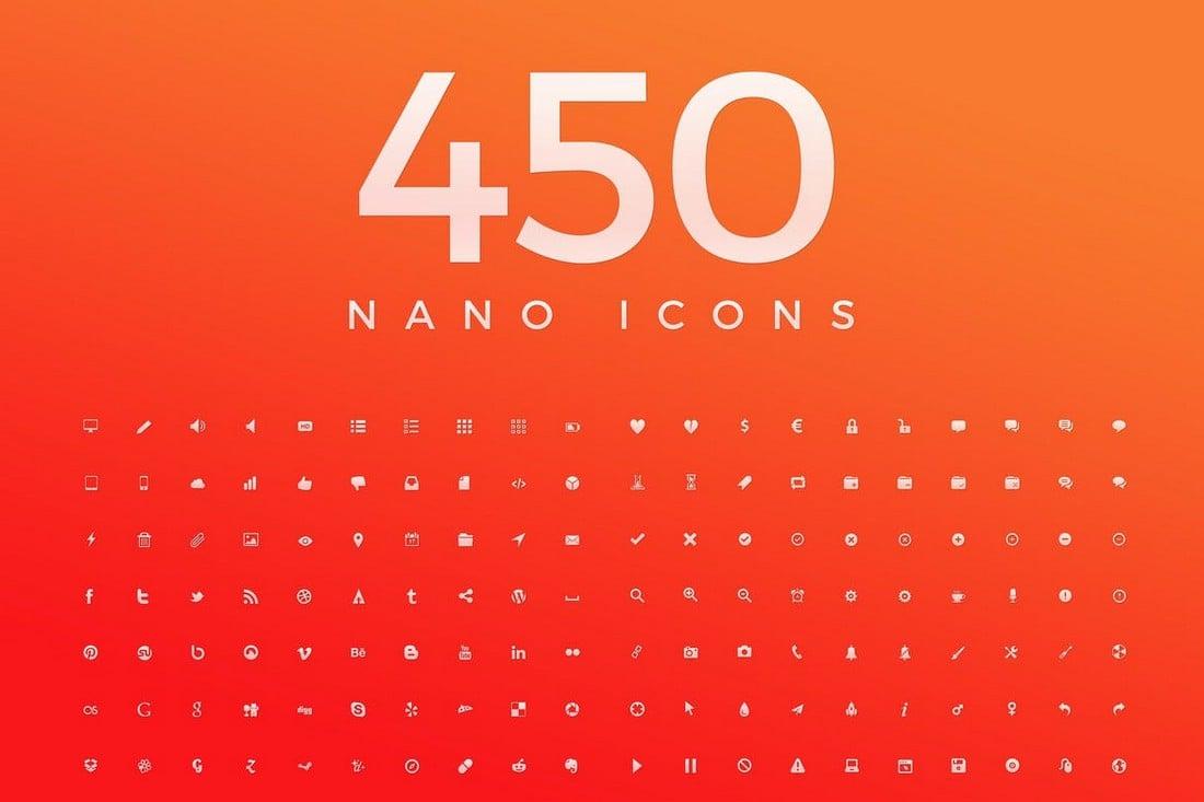 450 Nano Mininmal Icons untuk iPhone