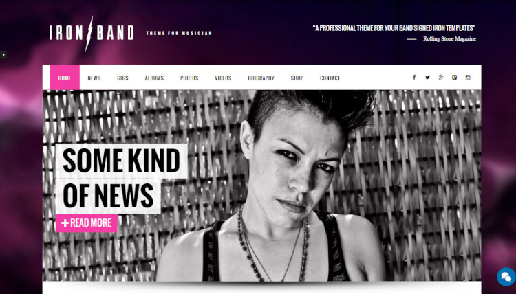 IronBand - Band and DJ WordPress Theme