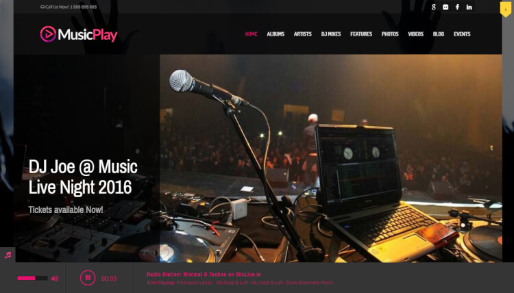 MusicPlay - Music and DJ WordPress Theme
