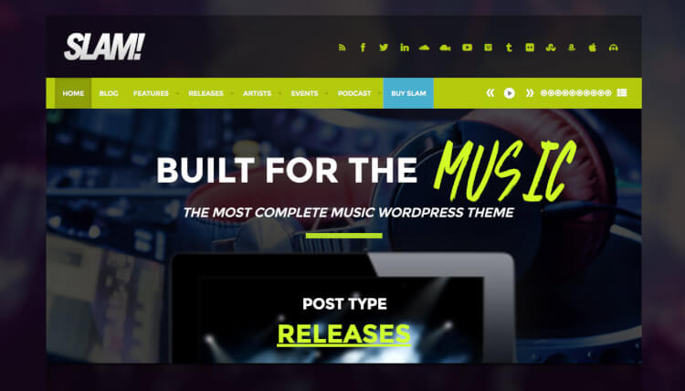 SLAM! - DJ and Musician WordPress Theme