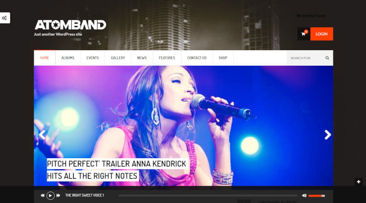AtomBand - DJ and Events WordPress Theme