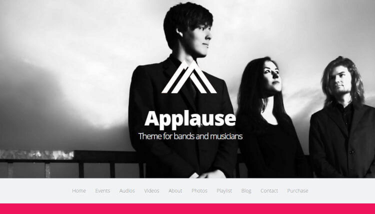 Applause - One-Page DJ WordPress Theme
